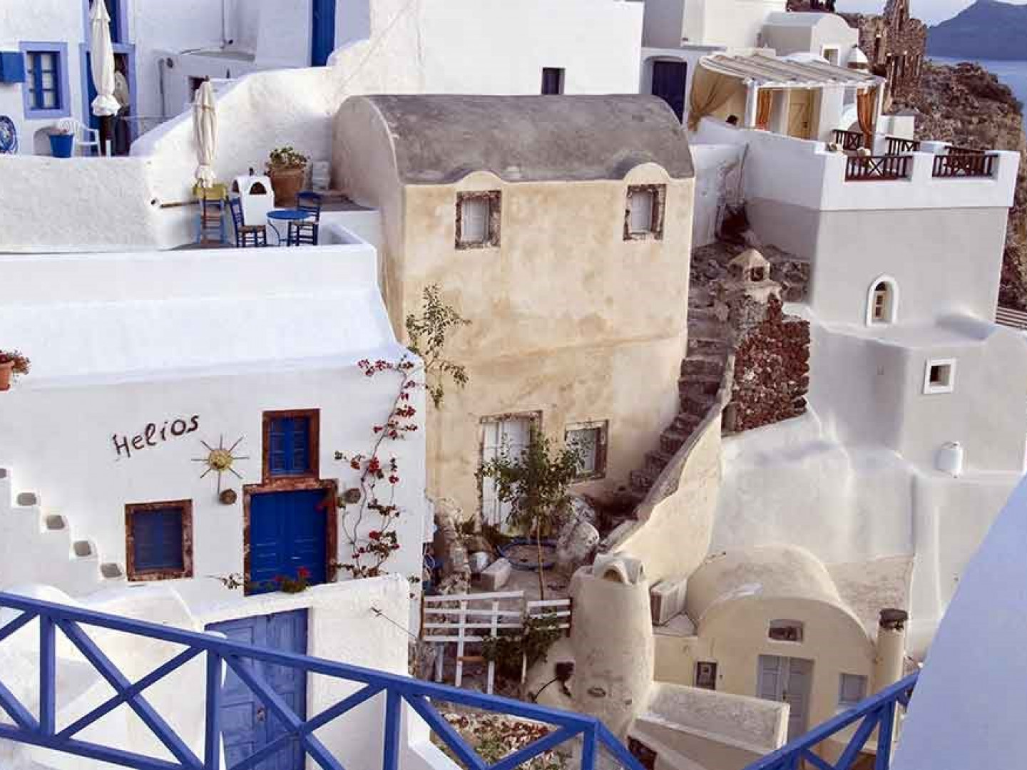3. Greece's blue doors keep away evil spirits