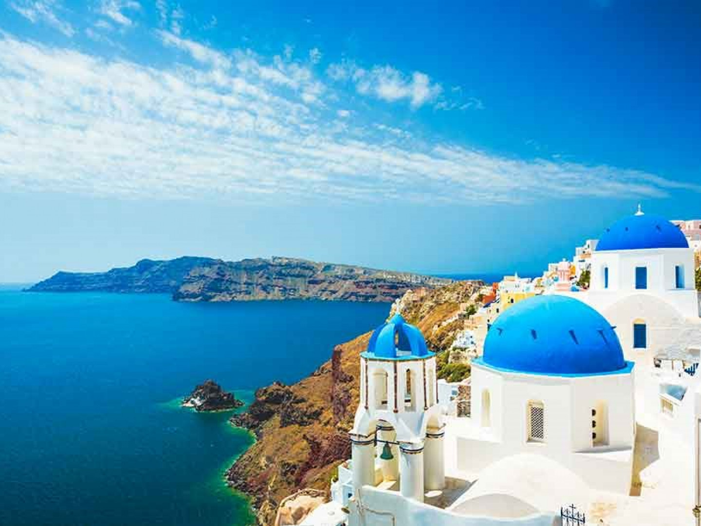 5. Santorini is an active volcano